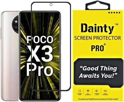Dainty TECH Edge To Edge Tempered Glass for Poco X3 Pro(Pack of 1)