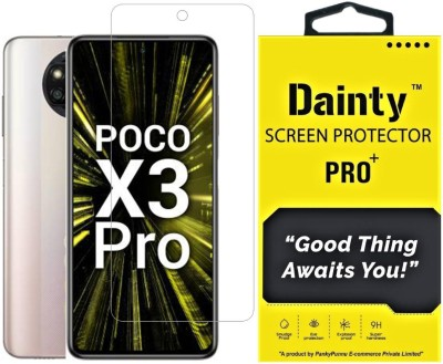 Dainty TECH Tempered Glass Guard for Poco X3 Pro(Pack of 1)