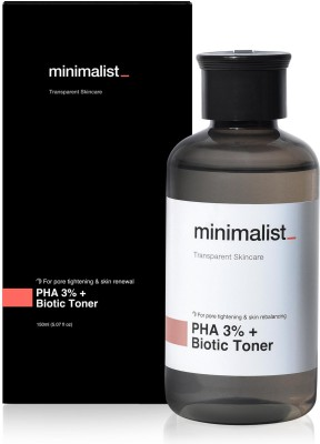 Minimalist PHA 3% Alcohol Free Face Toner, 150 ml | Pore Tightening & Mild Exfoliation For Oily, Acne Prone, Sensitive & Normal Skin | Hydrating Face Toner For Glowing Skin Men & Women(150 ml)