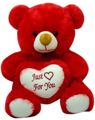 Sana Redish Teddy Sitting With Heart cm 40   40 cm Red Sana Soft Toys
