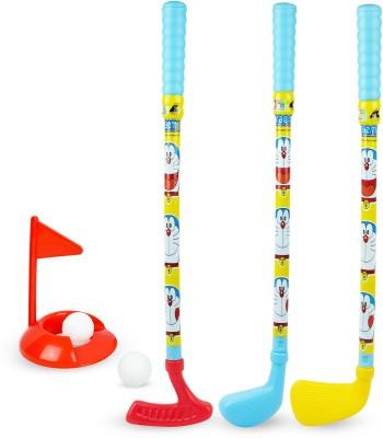 Doraemon Doraemon golf set for kids includes 3 golf stikcs with balls, flag & practice hole Golf