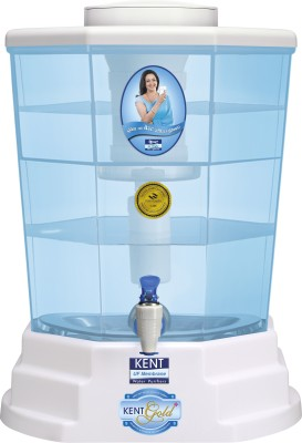 KENT GOLD+(11015) 20 L Gravity Based + UF Water Purifier(White & Blue)