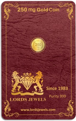 LORDS JEWELS Gold Coin 0.250 Gram 24  999  K 0.25 g Gold Coin LORDS JEWELS Coins   Bars