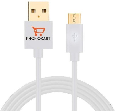 PHONOKART PKCOLEMC WHT 1 m Micro USB Cable Compatible with All mobiles and tablets, White, One Cable PHONOKART Mobile Cables