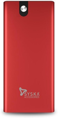 Syska 10000 mAh Power Bank (18 W, Quick Charge 3.0)(Lively Red, Lithium Polymer)