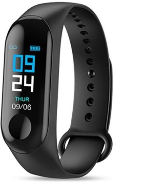 MYTECH With Charger M3 Smart Fitness Band(Black Strap, Size : Free Size)