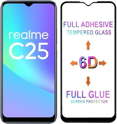 Micvir Edge To Edge Tempered Glass for Realme C25(Pack of 1)