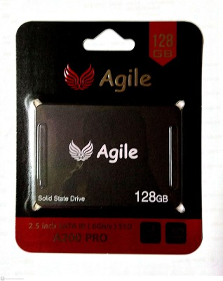 Agile 128 GB External Solid State Drive with 128 GB Cloud Storage(Black)