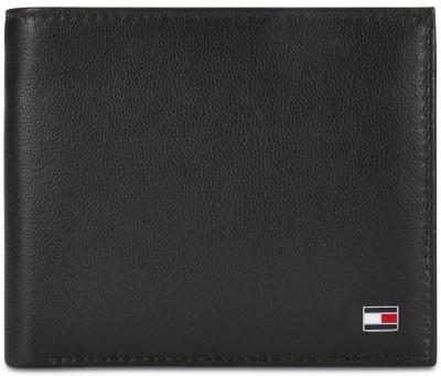 TOMMY HILFIGER Men Black Genuine Leather Wallet 4 Card Slots TOMMY HILFIGER Wallets