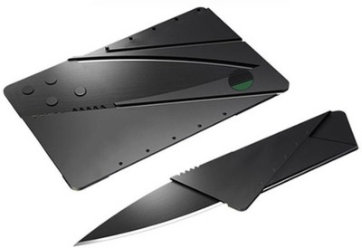 E-DEAL International Credit Card Folding Safty Campers Knife(Black)  available at flipkart for Rs.122