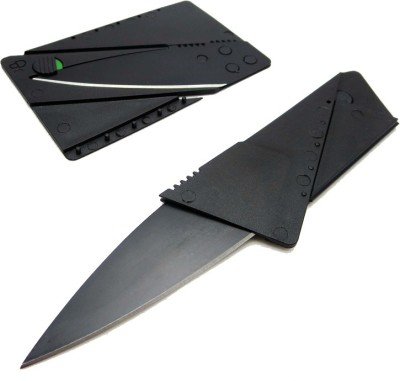 Goodbuy Credit Card Sized Folding Blade Black Goodbuy Camping Knives   Tools