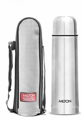 MILTON Thermosteel Flip Lid 500 ml Flask(Pack of 1, Silver, Steel)