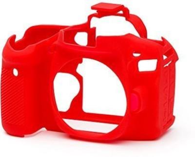 Breuk Silicon body Cover for Canon 80D Camera Camera Bag(Red)