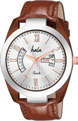 hala HL 2022 Elite Series Silver Dial Analog Watch   For Men hala Wrist Watches