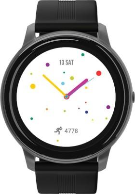 Syska SW200 Smartwatch(Black Strap, Regular)