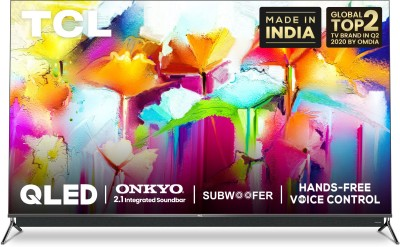 TCL C815 Series 164 cm (65 inch) QLED Ultra HD (4K) Smart Android TV With Integrated 2.1 Onkyo Soundbar(65C815)