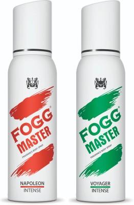 FOGG Master Intense (Napoleon + Voyager) 240ml Body Spray  -  For Men(240 ml, Pack of 2)