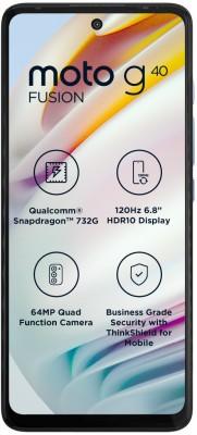 MOTOROLA G40 Fusion (Dynamic Gray, 128 GB)(6 GB RAM)