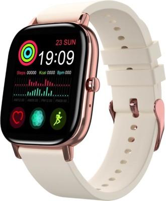 Truee Gen-X Talk Full Touch Bluetooth Calling Smartwatch(Beige Strap, Free Size)
