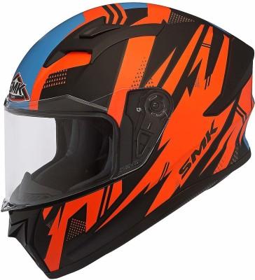 SMK Anti Fog Lens Fitted Single Clear Visor Full Face Helmet MA275 (Large 590 MM) Motorbike Helmet(Multicolor)