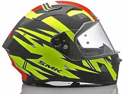 SMK Anti Fog Lens Fitted Single Clear Visor Full Face Helmet MA243 (Large 590 MM) Motorbike Helmet(Multicolor)