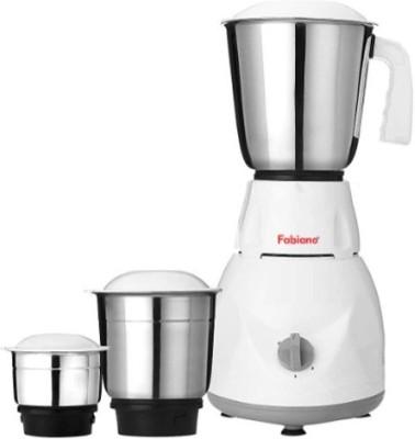Fabiano Tulip FAB-MG-03 500 Watts Mixer Grinder (3 Jars, White, Grey)