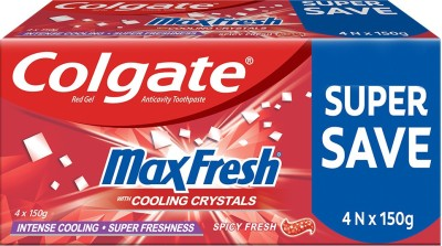 Colgate MaxFresh , Spicy Fresh Red Gel paste with Menthol for Super Fresh Breath, Saver Pack Toothpaste(600 g)