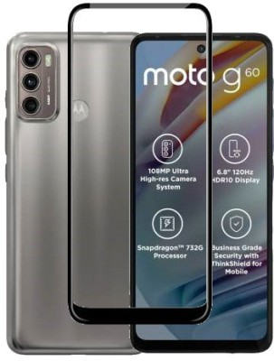 ECMERED Edge To Edge Tempered Glass for MOTOROLA G40 FUSION, MOTO G40 FUSION, MOTOROLA G60, MOTO G60(Pack of 1)