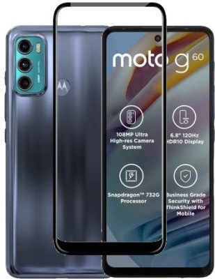 HOBBYTRONICS Edge To Edge Tempered Glass for MOTO G60, MOTO G40 FUSION, MOTOROLA G40 FUSION, INFINIX HOT 10, MOTOROLA G60(Pack of 1)