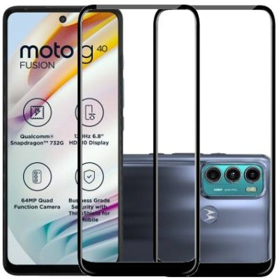ECMERED Edge To Edge Tempered Glass for MOTOROLA G40 FUSION, MOTO G40 FUSION, MOTOROLA G60, MOTO G60(Pack of 2)