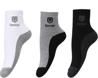 Vamear Exclusive Men & Women Color Block Ankle Length(Pack of 3)