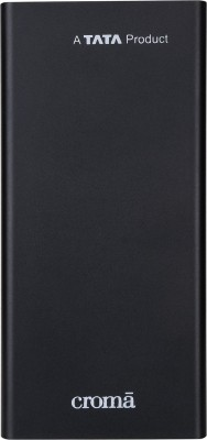 Croma 10000 mAh Power Bank  10 W  Black, Lithium Polymer Croma Power Banks