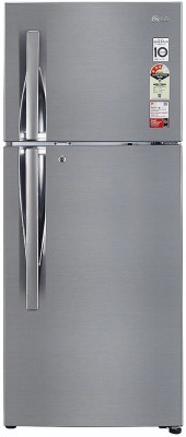 LG 260 L Frost Free Double Door Top Mount 3 Star Refrigerator(SILVER, GL-S292RPZX)