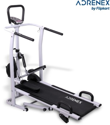 Adrenex by Flipkart 4 in 1 Multipurpose Pro Manual with Jogger, Push Up bar, stepper and twister Treadmill