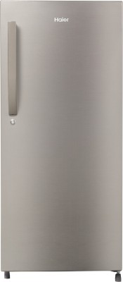 Haier 195 L Direct Cool Single Door 5 Star Convertible Refrigerator(Brushline silver, HED-20FDS)