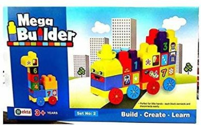 Ekta Toys Mega Builder Set 2 || Building Blocks Game for Kids Multicolor Ekta Toys Blocks   Building Sets