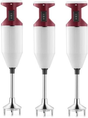 USHA Sure Blend pack of 3 125 W Hand Blender(red, white)