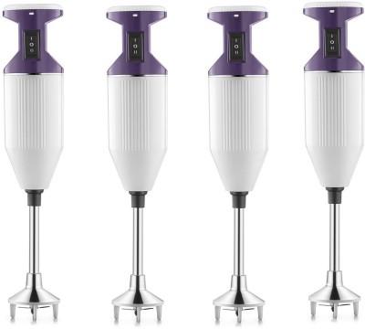 USHA Sure Blend pack of 4 125 W Hand Blender(purple, white)