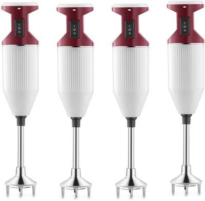 USHA Sure Blend pack of 4 125 W Hand Blender(red, white)