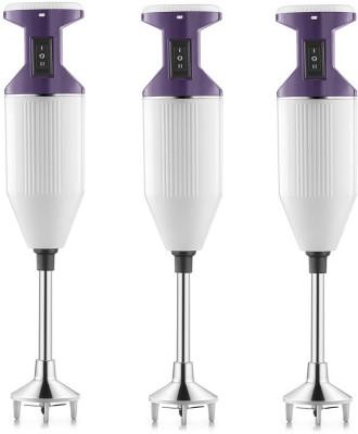 USHA Sure Blend pack of 3 125 W Hand Blender(purple, white)