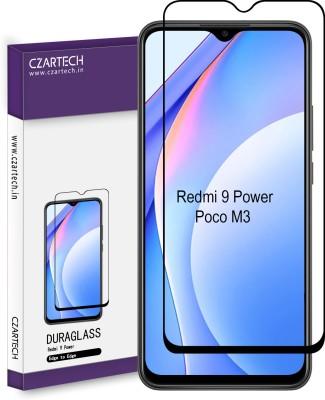 CZARTECH Edge To Edge Tempered Glass for Redmi 9 Power, Poco M3(Pack of 1)