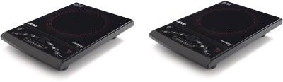 USHA CJ1600XPC pack of 2 Induction Cooktop(Black, Push Button)
