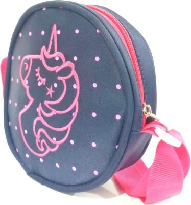 RosaStella kids girls cute fancy polka dot children unicorn sling backpack Bookbag Elementary Kindergarten Preschool picnic travel hand sling bag...