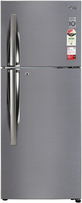 LG 260 L Frost Free Double Door Top Mount 3 Star Refrigerator(Shiny Steel, GL-I292RPZX)