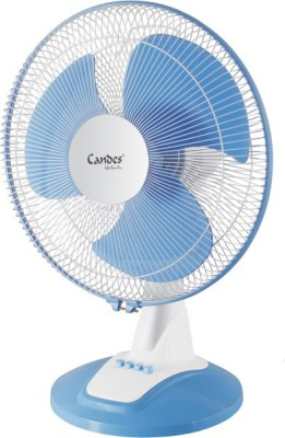 Candes Velocity 400 mm Ultra High Speed 3 Blade Table Fan(Multicolor, Pack of 1)