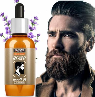 Alcamy Bio-Organic Lavender Beard Growth Oil | Beard Oil For Nourishment Hair Oil(30 ml)