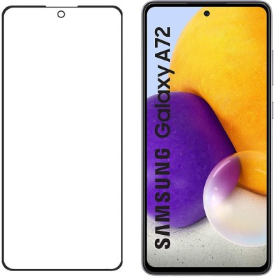 KARTRAY Edge To Edge Tempered Glass for Samsung Galaxy A72(Pack of 1)