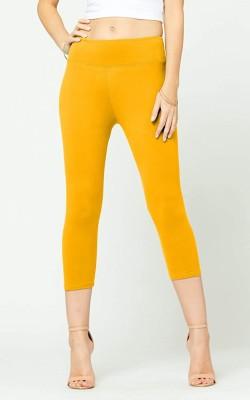 Fraulein Women Yellow Capri