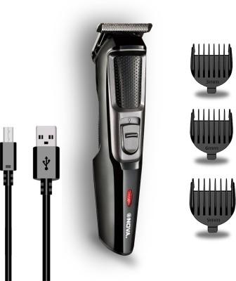 NOVA NHT 1074 USB Runtime: 30 min Trimmer for Men(Black, Silver)