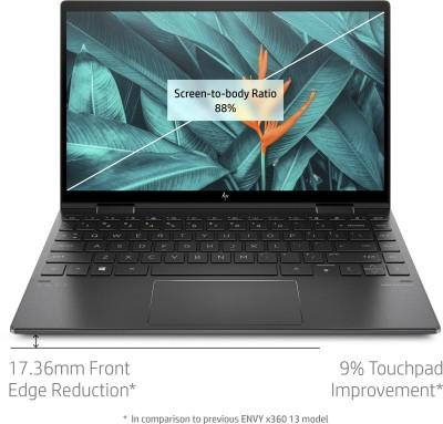 HP HP Envy Ryzen 7 Octa Core 4700U - (16 GB/1 TB SSD/Windows 10 Home) 13-ay0508au Thin and Light Laptop(13.3 inch, Nightfall Black, 1.32 Kg, With MS Office)